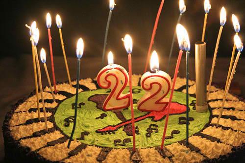 День рождение 22 поздравления